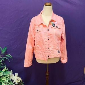 🌟EDITOR PICK Sourpuss Pink Washed Denim Jacket XL